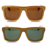 New Fashion Product Glass Unisex Comfortable Bamboo Sunglasses Luxury Wooden Frame Brand Design Vintage Wood Lens