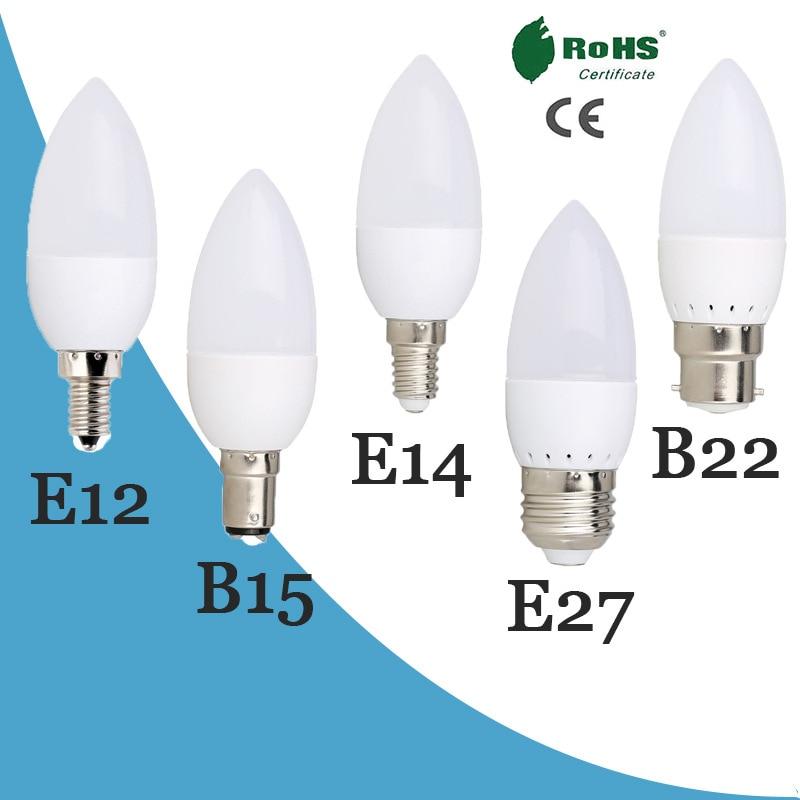 LED Candle Lamp 7W 9W E14 E27 LED Bulbs SMD 2835 AC85-265V Warm White/white For Chandelier Led Spotlight For Home Led Lighting