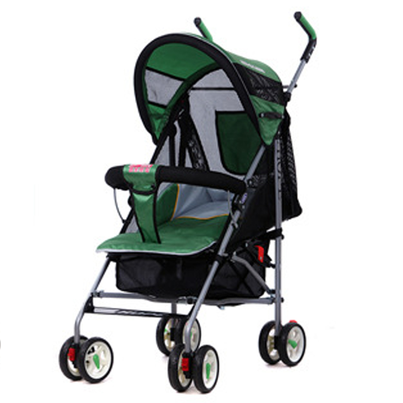 Hebao 306 all net ventilated baby trolley can be folded and accommodated, but can sit and lie on the four wheel cart.