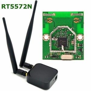 Image 1 - 802.11a/b/g/n 300 mb/s dwuzakresowy bezprzewodowy Adapter USB WiFi dla Ralink RT5572 + 5dBi zewnętrzny WiFi antena dla systemu Linux/Windows 7/8/10