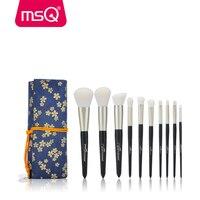 MSQ 10pcs Makeup Brushes Set Powder Foundation Eyeshadow Make Up Brush Cosmetics Kit Soft Synthetic Hair