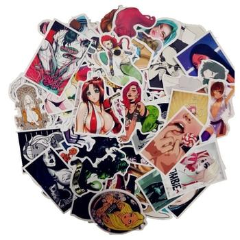 цена на 100 Pcs/Pack Cartoon Anime Stickers Sexy Beauty Doodle Sticker Laptop Phone Fridge Skateboard Home Wallpaper Decal DIY Stickers