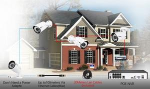 Image 2 - MISECU H.265 8CH 1080P POE نظام الكاميرا الأمنية عدة الصوت سجل كاميرا IP الأشعة تحت الحمراء في الهواء الطلق مقاوم للماء مجموعة NVR المراقبة بالفيديو
