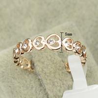 Italina Brand Love Forever Rose Gold Color Aneis Women's Crystal Heart Bijoux Jewelry Austrian AAA CZ Wedding Rings Wholesale 1