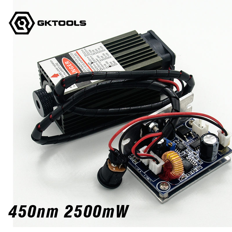 450 nm 2500 mW 12V High Power font b Laser b font Module have TTL Adjustable