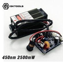 450 nm, 2500 mW 12 V High Power Laser Modul haben TTL, Einstellbarer Fokus Blauer Laser modul. DIY laserengraver maschine zubehör.