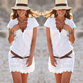 Women's Casual Bobo Dress Evening Party V-neck Summer Beach Short Mini Dress Size S-XL