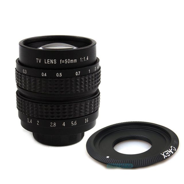 Fujian 50mm F1.4 CCTV Movie Lens C Mount to Sony A6000 A6500 A6300 A5000 NEX 5T N 3N N6 N7 N 5R NEX6 NEX7