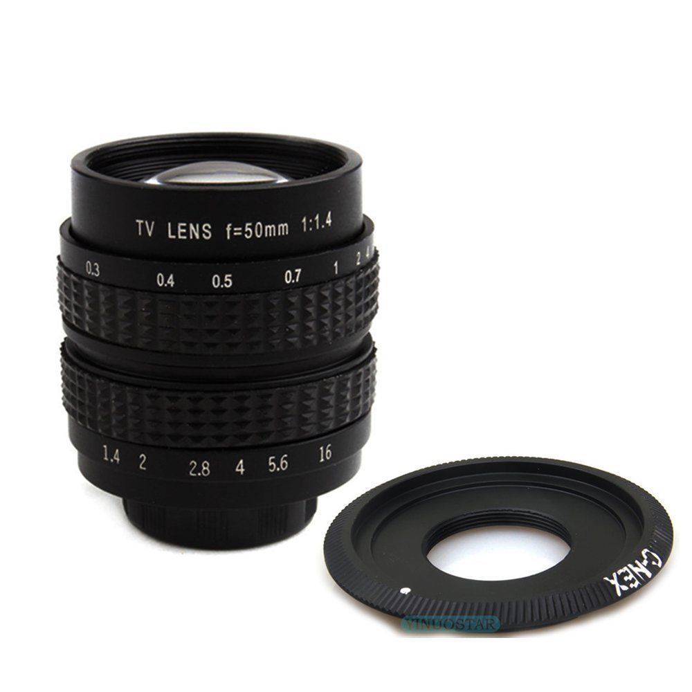 Fujian 50mm f1.4 cctv film objectif à monture c pour sony A6000 A6500 A6300 A5000 NEX-5T N-3N N6 N7 N-5R NEX6 NEX7
