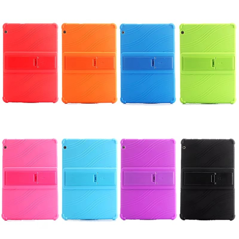 Silicone Stand Protect Shell For Huawei Mediapad T5 10 AGS2-W09/L09/L03/W19 Soft Case For Huawei Honor Pad 5 Tablet Case + Pen