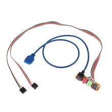 Câble de remplacement pour châssis USB 2.0 + 3.0 ports 70cm, panneau avant Audio coque dordinateur, 1 pièce