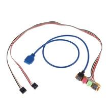 Cable de reemplazo para chasis de PC, Panel frontal de Audio, 70cm, USB 2,0 + 3,0, 1 unidad