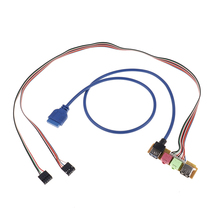 Cabo usb 2.0 + 3.0 do chassi da porta do computador 70cm, painel frontal de áudio para substituição 1 peça