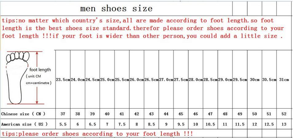 men new size