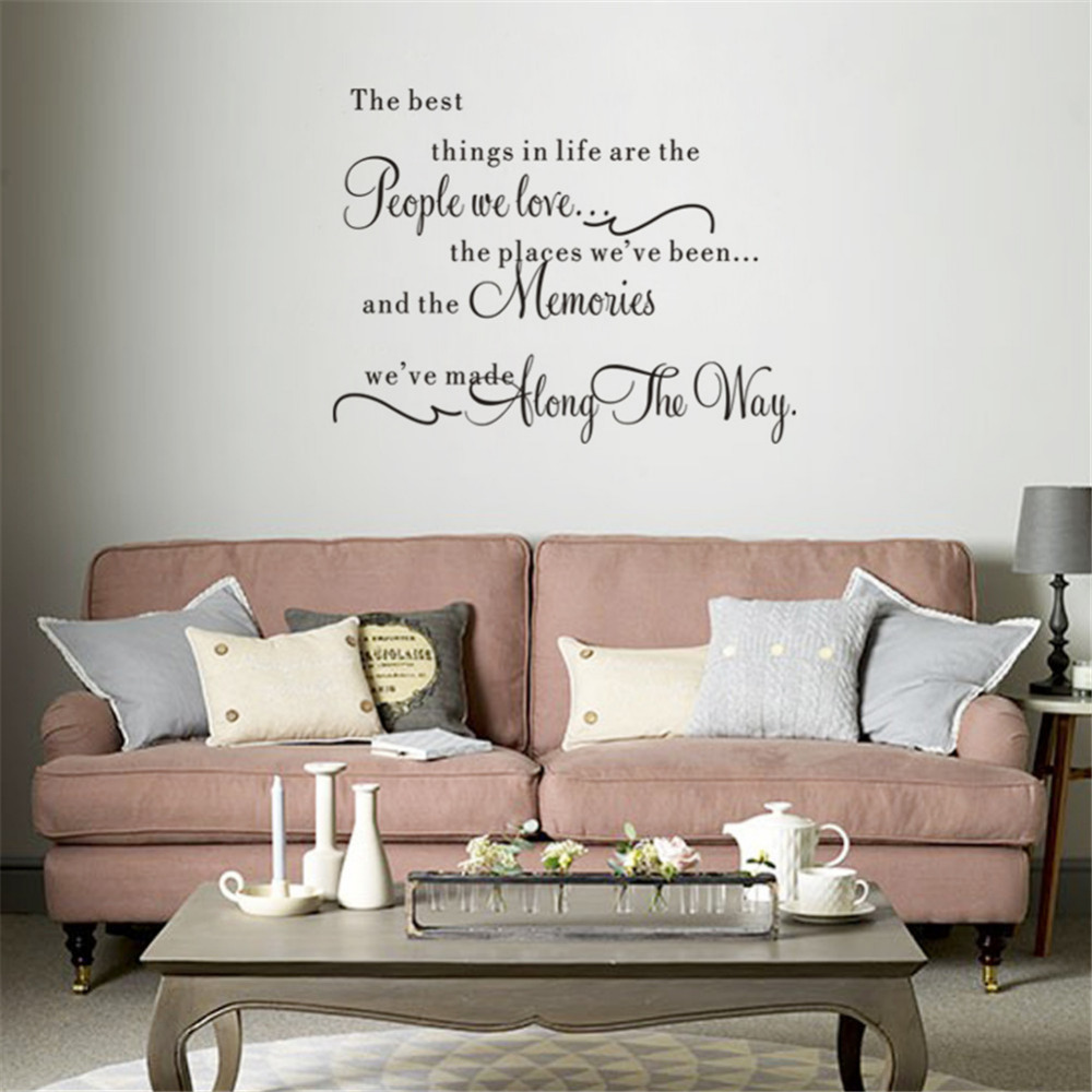 DIY Quotes The Best Things In Life Wall Sticker Living Room Bedroom ...