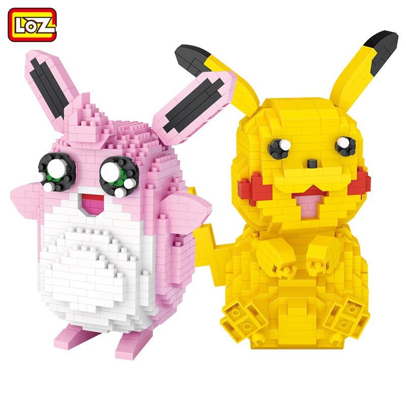 LOZ Blocos Wigglytuff Leilão Figura Dos Desenhos Animados Brinquedo Tijolos De Construção para Crianças Dos Miúdos Anime Boneca brinquedos Meninas Presente 9224