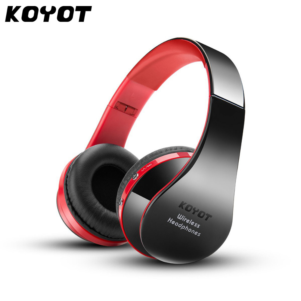 KOYOT Wireless Bluetooth Headset Headphones Stereo Foldable Sport Earphone bluetooth earphone Microphone headset headphones blutooth 4 1 wireless foldable sport earphone microphone headset with tf card slot mp3 player music earphone earpiece
