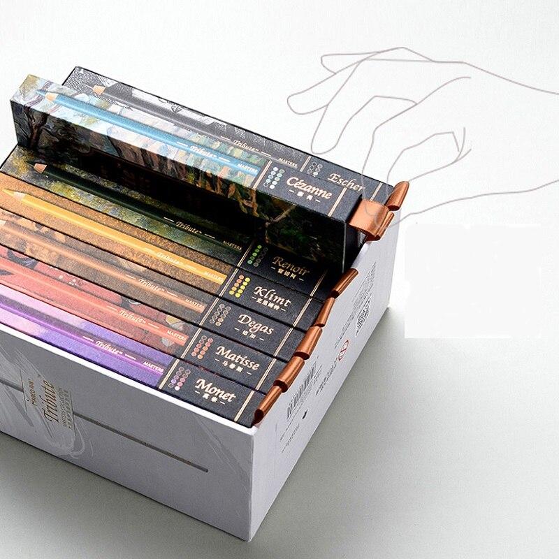Marco Renior, Base al óleo, 80 Set de lápices de colores, para bocetos de artistas, dibujo profesional, pintura artística, libros de colorear para adultos, en 8 Cajas de Regalo - 4