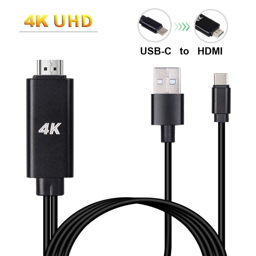 USB-C Type C to HDMI With Charging Cable for Samsung Galaxy S8/S8+/Note8, Huawei Mate 10/MacBook Pro , ChromeBook Pixel