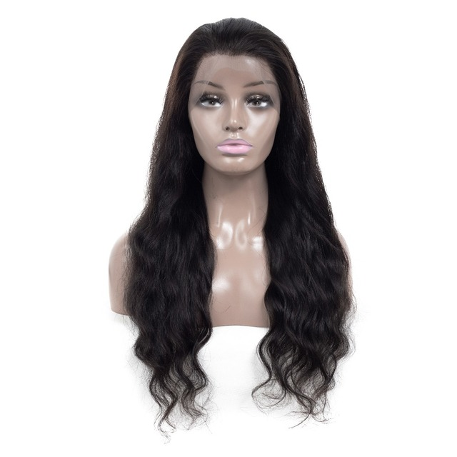 b02abba7f52 US $63.24 49% OFF|360 Lace Frontal Wig Body Wave Lace Front Human Hair Wig  Pre Plucked with Baby Hair Brazilian Remy Hair 10 22 Inch Natural Color-in  ...