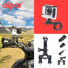 Motorcycle Bike Handlebar Extended parts Seatpost Mount Tripod Holder for For Gopro Hero 4 3+ 2 4 aipal SJ 4000 Yi h9 camera