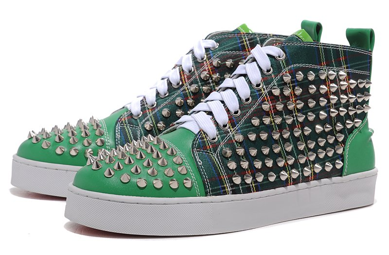 9446e370c81 New arrivals men casual green and black patchwork high-cut red bottom shoes  men fashion latest handsome lace up sneakers MS1721