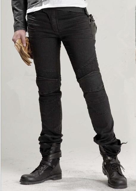 Uglybros נוצות ג ינס אופנוע מכנסיים גברים של כביש רכיבה ג ינס אופנה מזדמן motorpool מכנסיים 3 צבע size28 40