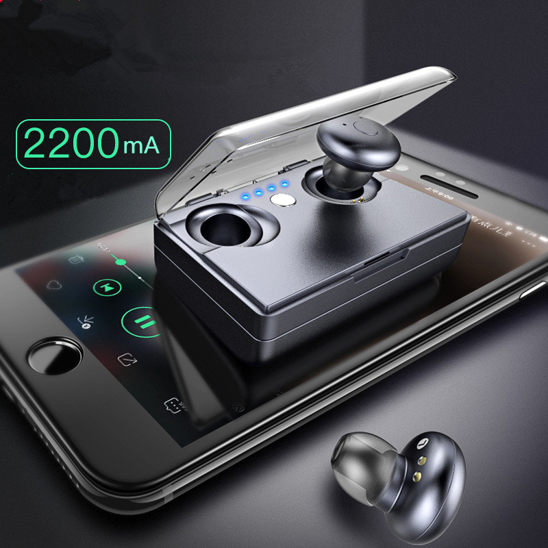 MiBOSE Headset Portable Mini Wireless Earphone Stereo Earbuds Bluetooth Earphone With Mic For iPhone With Charger Box Ear bud hlton portable wireless bluetooth earphone handsfree mini headset stereo earbuds car fast charger with mic for smartphone pc