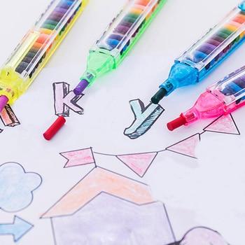 BalleenShiny Crianças Pintura Brinquedos 20 Cor Cera Crayon Bebê Engraçado Criativo Óleo Educacional Pastel Kid Graffiti Pen Cor Aleatória 1