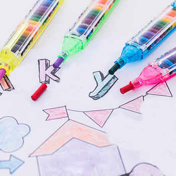 BalleenShiny Children Painting Toys 20 Color Wax Crayon Baby Funny Creative Educational Oil Pastel Kid Graffiti Pen Random Color 1