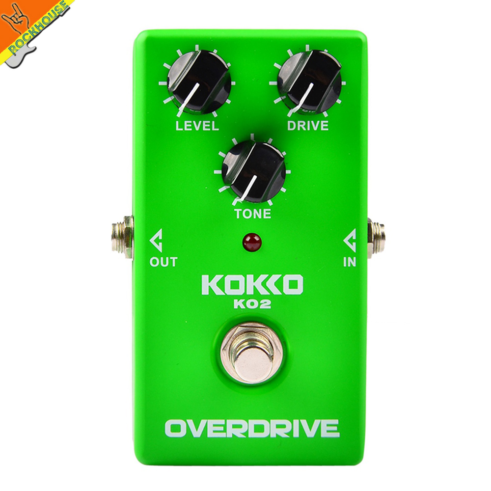 ФОТО KOKKO Vintage overdrive guitar effect pedal guitarra overdrive booster high-power tube overload guitar stompbox free shipping
