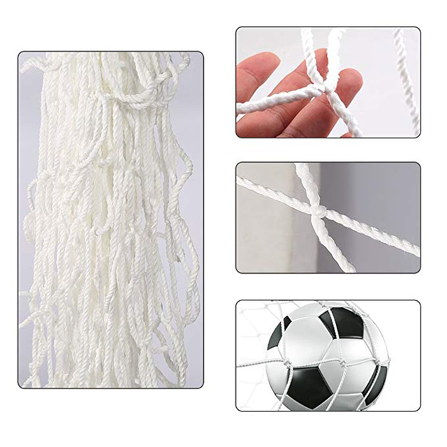 3X2M Soccer Goal Net Football Nets Mesh Football Accessories For Outdoor Football Training Practice Match Fitness (Nets Only)