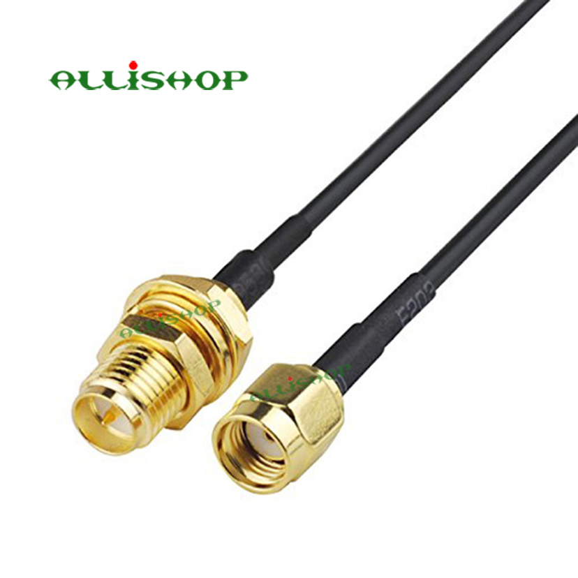 MMCX Male Right Angle Plug to TNC Bulkhead Female Aerial Extension Cable RG316 15cm Ships from USA