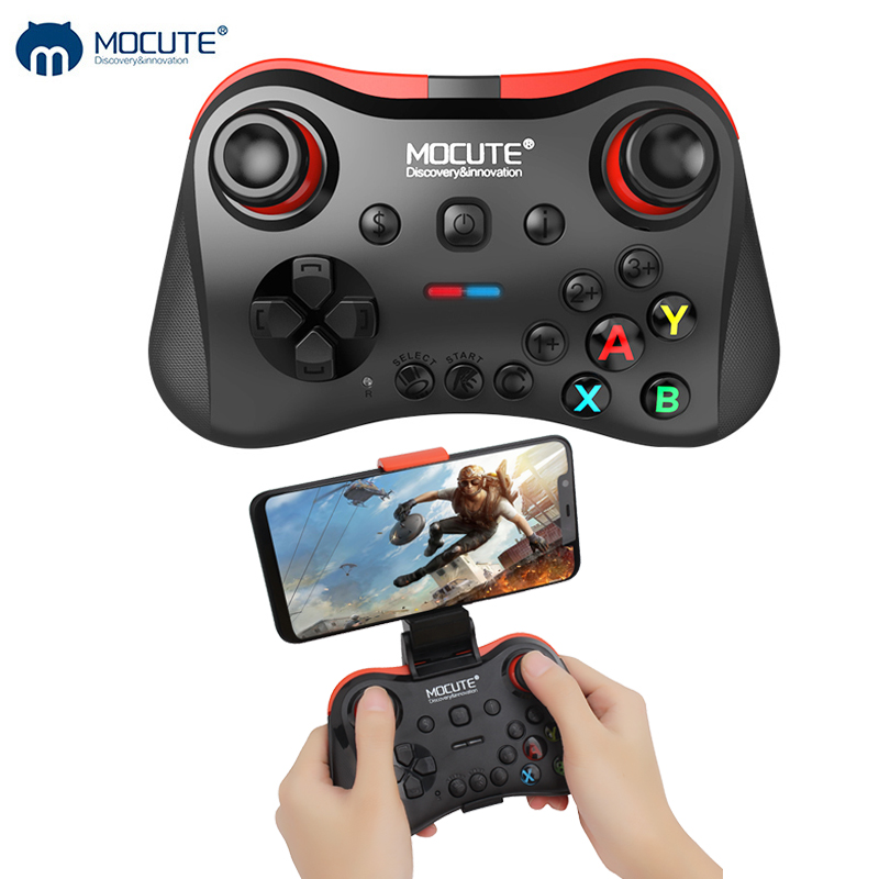 Mocute 056 Bluetooth Gamepad Android Wireless Joystick VR Controller Mobile Joypad für PUBG Smartphone Smart TV BOX PC + Halter
