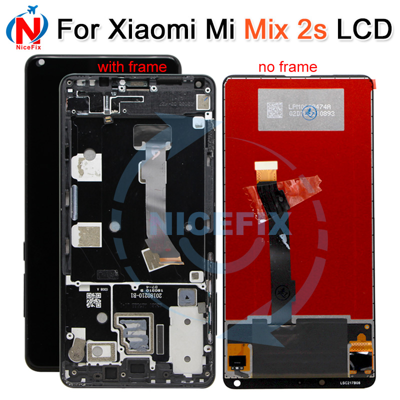 XiaoMi Mi Mix 2S LCD Display with Touch Screen Digitizer With Frame Assembly For XiaoMi Mi