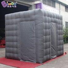 Серый 2,5 м куб надувные photo booth фон корпус № палатка с 2 дверями