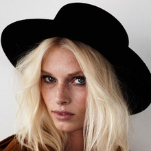 New Fashion Wool Pork Pie Boater Flat Top Hat For Womens Mens Felt Wide Brim Fedora Gambler Hat cheap Fedoras Adult Solid Unisex HXG JQX AFR-YHZ Casual 10CM