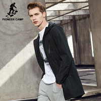 Pioneer Camp New Arrival Long Mens Jackets Coat Brand Clothing Hooded Coat For Men Quality Male