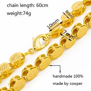 Image 4 - Ethlynブランド長さ60センチ/幅8ミリメートルエチオピア/eritreanジュエリーチェーン手作りゴールドカラー太いネックレス&チェーンn032