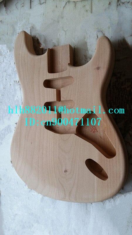 Livraison gratuite nouveau corps en bois d'aulne de guitare électrique à onde unique avec pont supplémentaire non peint coupé par la machine à CNC F-2164