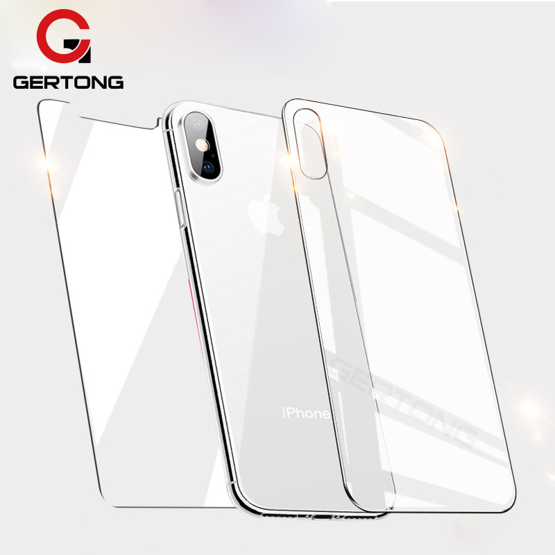 Front Back Protective <font><b>Film</b></font> Glass For <font><b>iPhone</b></font> XR XS MAX 6 6S 7 8 Plus 5 S 5s 5c SE 4 <font><b>4S</b></font> Screen Protector <font><b>Cover</b></font> Tempered Glass image