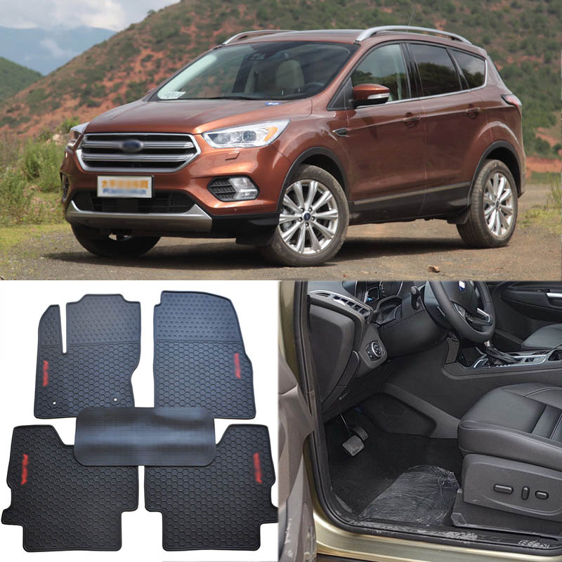 High Quality Full Set All Weather Heavy Duty Black Rubber Floor Mats For Ford Kuga цены