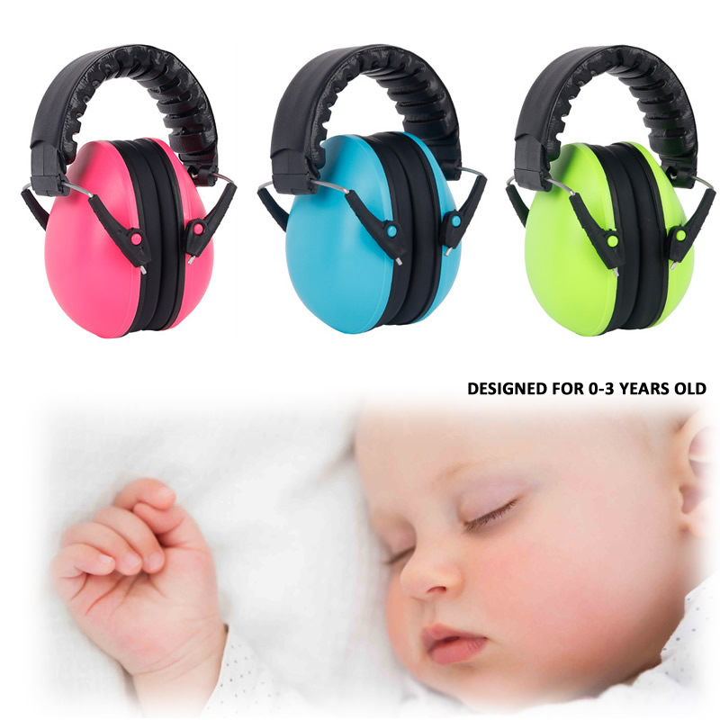 0-3 Years Kid's Anti-Noise Head Earmuffs Adjustable Children Ear Protector For Sleeping Noise-Insulation Hearing Safe Protection adjustable anti noise head earmuffs noise insulation ear protector nrr 30db for work study shooting woodwork hearing protection
