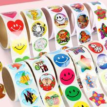 1 рулон корейские кавайные канцелярские принадлежности наклейки этикетки с 100 шт стикер s для школьного учителя награда забавные игрушки для детей