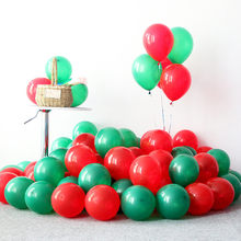 5pcs 12inch 5inch Wedding Latex Balloon Green Red Balloon Baby Shower Boy Birthday Party Decoration Kid Christmas Party Supplies(China)