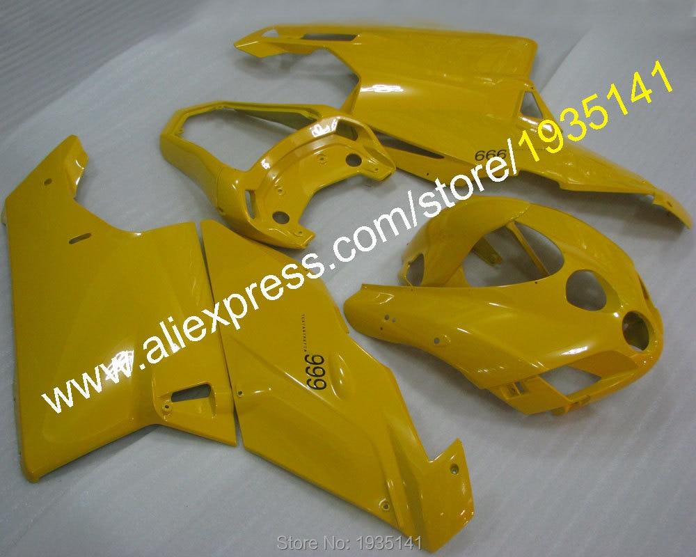 Vendite calde, Popolare giallo body kit Per Ducati 749 999 2003 2004 Parti 749 s 999 03 04 sport moto Carena (stampaggio ad iniezione)