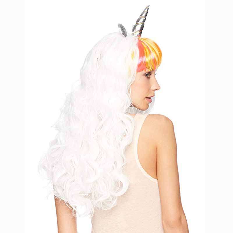 c76eeba526fea Cosplay Wig Headband Halloween Costumes kid adult Unicorn theme birthday  New Year Masquerade dress up Christmas Decoration gift-in Party DIY  Decorations ...