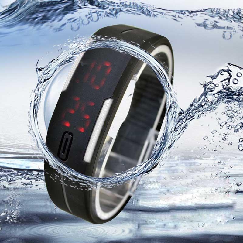 #5002 Ultra Dünne Männer Mädchen Sport Silikon Digitale Led Sport Armbanduhr Dropshipping Neue Ankunft Freeshipping Heiße Verkäufe