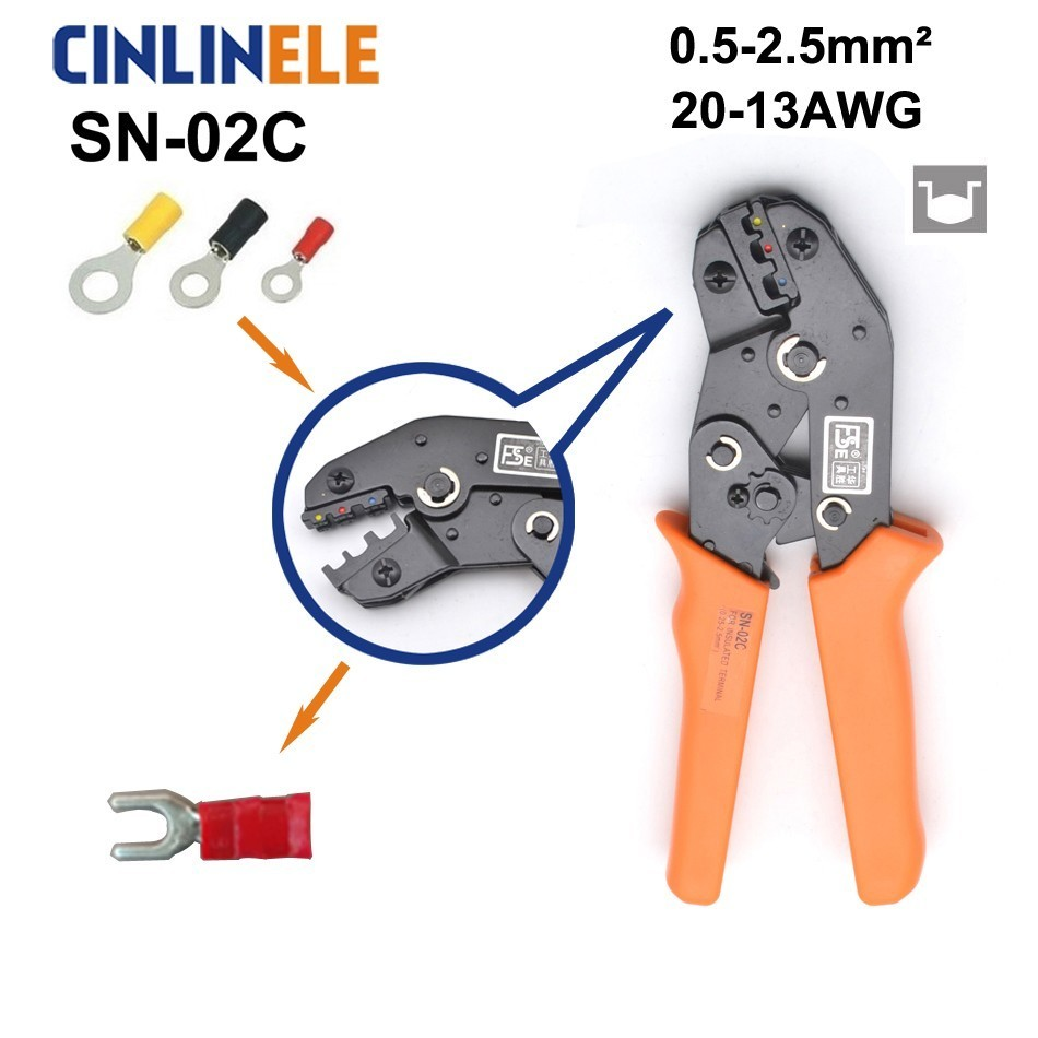 Free Shipping SN-02C 0.5-2.5mm 20-13AWG Mini Type Self Adjustable Crimping Hand Pliers Electrical Wire Terminals Crimper ToolsFree Shipping SN-02C 0.5-2.5mm 20-13AWG Mini Type Self Adjustable Crimping Hand Pliers Electrical Wire Terminals Crimper Tools