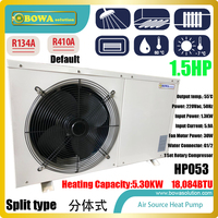 1.5P split type Hi COP heat pump water heater is nice choice for floor heating 70~80sqm apartment or house, energy saving heater
